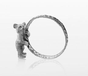 Кольцо ажурное для салфетки с медвежонком